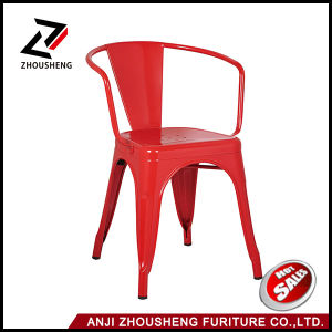 Modern Cafe Metal Tolix Chair with Armrest Zs-T-08 pictures & photos