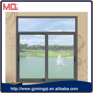 Aluminium Glass Window with Grey Color
