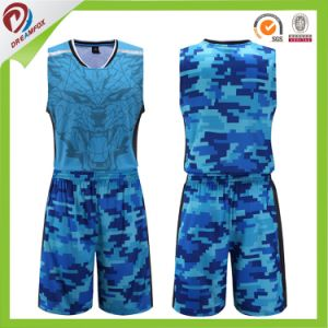 ead11510f China XXL Blue Red Green Camo Custom Reversible Basketball Jersey ...