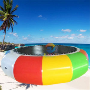 0.9mm PVC Tarpaulin Inflatable Water Bouncer Trampoline for Water Park pictures & photos