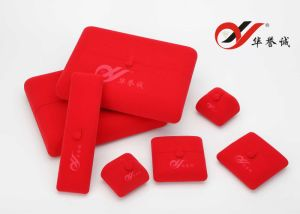 Red Foldable Velvet Jewelry Box Set pictures & photos