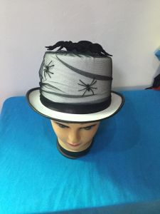 2017 Wholesale Good Quality Decoration Party Yarn Big Spider Top Hat