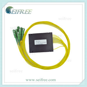 1: 8 Fiber Optic Splitter with Sc Connectors, FTTH Rack/ODF Compatible pictures & photos