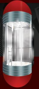 Panoramic Elevator with Semi-Circle Rear Wall in Glass pictures & photos
