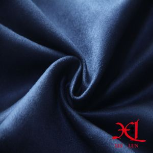 One Side Blue Brushed Polyester Suede Fabric for Sofa pictures & photos