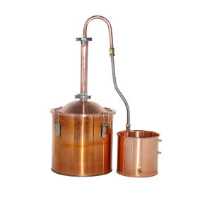 Kingsunshine 18liter 5gal Copper Alembic Alcohol Distiller Reflux Still Home Brew Distiller