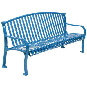 Powder Coating for Steel Park Bench