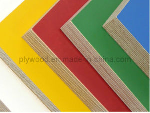 Yellow Red Color Birch Core Film Faced Plywood pictures & photos