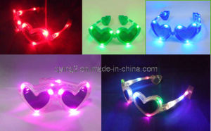 Heart-Shaped LED Flashing Party Glasses (QY-LS100) pictures & photos