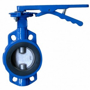 Wafer Butterfly Valve Could Connect with Handle, Worm Gear, Electric or Pneumatic Actuator