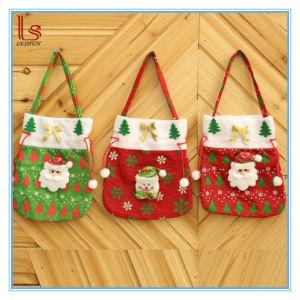 Christmas Gift Bags For Kids.Wholesale Christmas Santa Claus Handbag Kids Candy Gift Bags