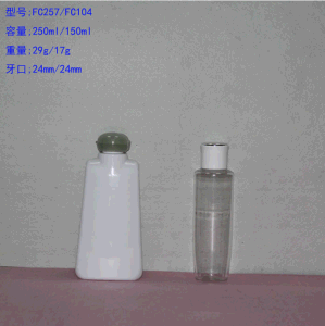 150ml Pet Cosmetic Lotion Bottle with Screw Rose Cap