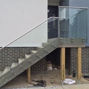 Exterior Stair Glass Railing, Glass Handrail, Stair Glass Railing Prices pictures & photos