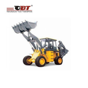 China Backhoe Loader Tractor with Hydraulic Controls and Skid Steer