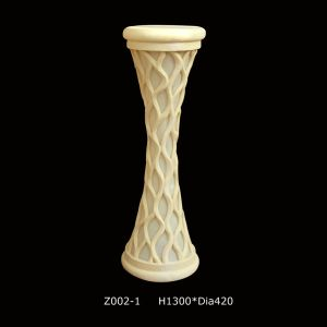 Sandstone Resin Carved Sculpture LED Light Columnar Lantern with Loudspeakers pictures & photos
