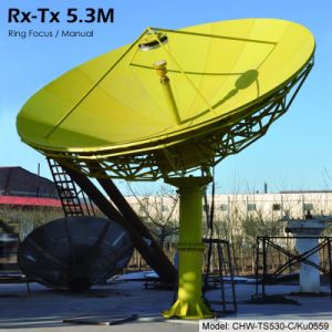 China 5 3m Rx Tx Earth Station Antenna (Pole Stand, Manual