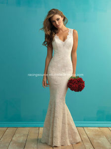 Sexy Lace Bridal Gown Sleeveless Wedding Dresses pictures & photos