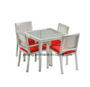 Top Quality Modern Designer Rattan Outdoor Garden Rattan Furniture Dining Table Set for Restaurant & Hotel (YT537) pictures & photos