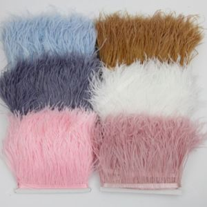 Wholesale 2 m in length with ostrich feathers cloth clothing decorative scarves