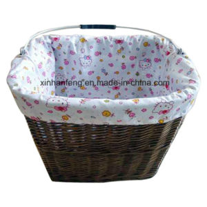 Willow Bicycle Basket with Handle for Bike (HBK-117) pictures & photos