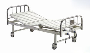 Stainless Steel, Moveable Fowler Patient Bed with Two Cranks (XH-E-3) pictures & photos