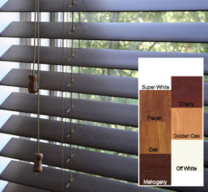 Wooden Wand Control Wooden Blinds (SGD-W-5619) pictures & photos