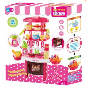 China 2018 Role Play Toy Kitchen For Kids Colorful Wooden Toy