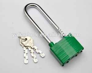 China Suppliers Long Shackle Laminated Steel Padlock