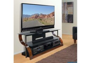 "65"" Wide Curved Wood TV Stand - (Limited Time Sale!)"