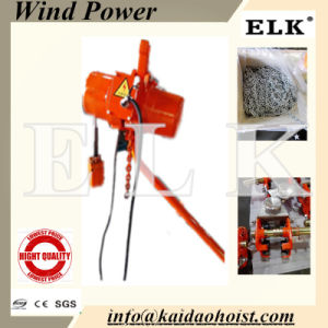 0.3ton Wind Turbine Electric Chain Hoist pictures & photos