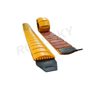 Highly Refiective Yellow Plastic Portable Speed Bumps on Road pictures & photos