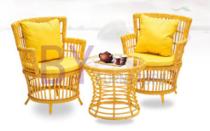 by-489 Wholesale Armchair Three-Piece Balcony Coffee House Garden Furniture