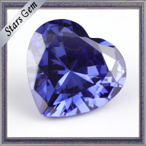 Tanzanite Blue Heart Shape Cubic Zirocnia CZ Gemstone pictures & photos