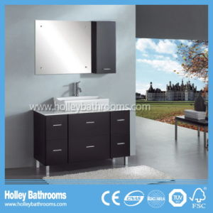American Style Bathroom Vanity with Metal Feet and Counter Basin (BV176W)