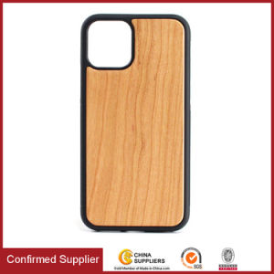 Hybrid Real Wood Cell Phone Case for iPhone 11 2019 Wooden Cover