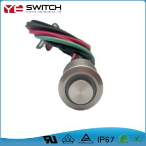 High Button Pushbutton Switch with Wire