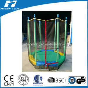 Colourful Mini Trampoline with Safety Net Outside