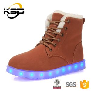 New Product 2016 Unisex Snow Winter Boots Fashion LED Light up Adult Shoes
