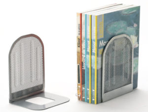 Desktop Accessories/ Metal Mesh Stationery Bookends/ Office Desk Accessories