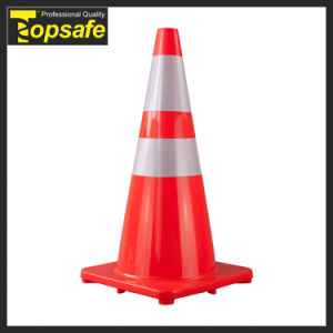 28 Inch Road Safety Fluorescent Orange PVC Traffic Cone (S-1232) pictures & photos