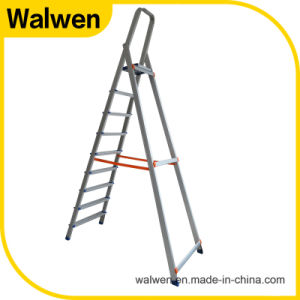High Strength Foldable Agility Aluminum Attic 8 Step Ladder pictures & photos