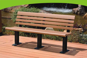 Green Garden WPC Bench with Wood Plastic Composite Material