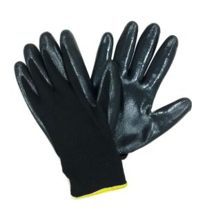 13 Gauge Knitted Nylon Nitrile Gloves Coated Work Glove China pictures & photos