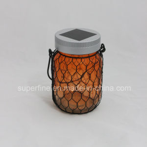 Romantic Luxury Garden Decorative Luminary Solar Lights with Metal Net Around pictures & photos