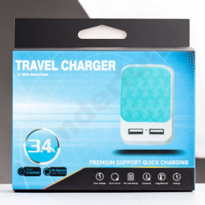 Different Colors European/American Standared Travel Charger pictures & photos
