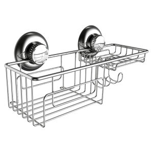 18/8 Stainless Steel Shower Basket with Hook