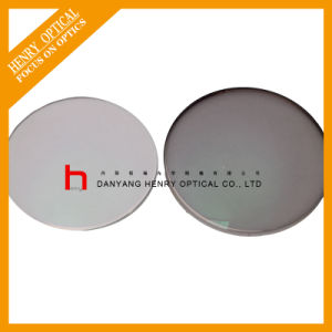 Semi-Finished 1.56 Flat Top Photochromic Gray Optical Lens Hmc pictures & photos