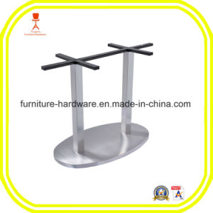 Furniture Hardware Parts Dining Table Leg with Ellipse Base Aluminum pictures & photos