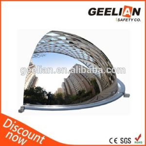 china globe safety dome half convex mirror for spherical mirror