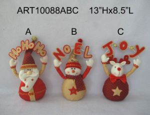 Luxury with Sparkle Greeting Letters Doorknob, 3 Asst-Christmas Decoration pictures & photos